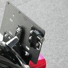 キジマHD-05137ヘルメットホルダーナンバープレート用ブラック汎用品