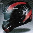 【9月発売予定】OGKKAZAMIXCEVAシステムヘルメットフラットブラック/レッドカザミエクゼヴァ