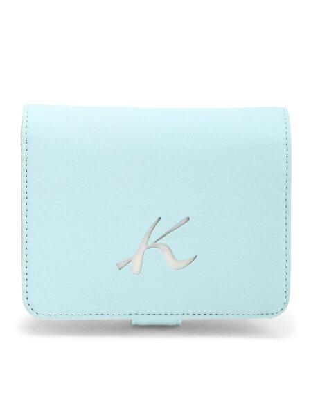 (W)二折財布PH0334Kitamuraキタムラ財布/小物財布ブルーネイビーベージュレッド   RakutenFashion