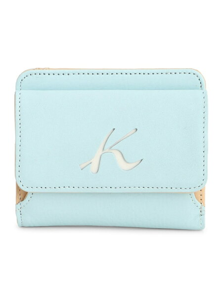 (W)二折財布PH0539Kitamuraキタムラ財布/小物財布ブルーブラウンネイビーベージュオレンジ   RakutenFas