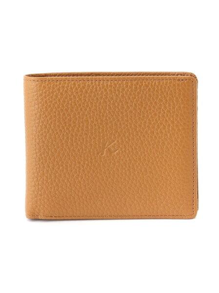 (M)二折財布(札入れ)ZH0426Kitamuraキタムラ財布/小物財布ブラウングレーブラックレッド   RakutenFas