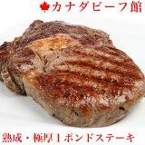 ステーキ肉 肉 極厚カナダビーフ・1ポンドステーキ★どんな焼き方でも失敗しないカナダのリブアイロール ステーキ!赤身力で大好評 牛肉 赤身 バーベキュー 熟成肉 贈り物 ギフト お祝い プレゼント 2019 アウトドア BBQ 食材 土産