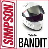 即納!SIMPSONBANDIT【シルバー】シールドプレゼント♪バンディットSG規格NORIXシンプソンヘルメット送料代引き手数無料即納平日12時まで