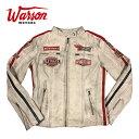 【ワーソンモータース/Warson Motors】デイトナ レザージャケット レディ ホワイト レディース ライダースジャケット ライディング DAYTONA LEATHER BLACK WOMAN
