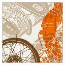 【ヘルストン/helstons】スカーフ SCARF FIESTA 白いTシャツと黒いバイク バイク柄 逆輸入 2