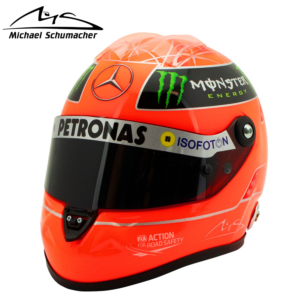 コレクション, その他  Michael Schumacher 12 2012 MICHAEL SCHUMACHER MERCEDES GP FORMEL 1 2012 HELMET 1:2