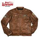 【ワーソンモータース/Warson Motors】ジョー・シフェール レザージャケット メンズ ブラウン CLASSIC DRIVER JO SIFFERT BROWN RUB OFF GOAT