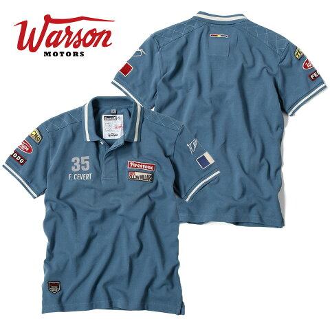 【ワーソンモータース/Warson Motors】 Francois Cevert フランソワ セベール 半袖 ポロシャツ メンズ F1 エルフ・チーム・ティレル
