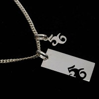 56,design,Silver,Plate,Necklace,シルバー,プレートネックレス,小,41443