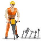 ブルーダー Bruderプロシリーズ はたらくクルマ 建築作業員セット(アクセサリー付/3歳から)