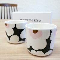 マリメッコ コーヒーカップ2個セット(ラテマグ) UNIKKO/CHERRY&BLACK【店頭受取対応商品】