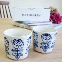 マリメッコ コーヒーカップ2個セット(ラテマグ) VIHKIRUUSU(ヴィヒキルース)/BLUE LINE