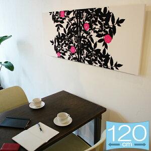 【送料無料★お花5つで製作します】北欧アートのマリメッコをファブリックパネルにしました。結...