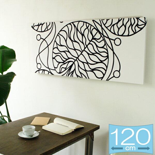 ファブリックパネル マリメッコ marimekko BOTTNA/WHITE 120×50cm