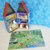 ムーミンハウス&木製人形5個セット+パズル付き(ドールハウス/4歳から)北欧