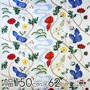 ボラスコットン boras cotton 生地 幅約150cm×約1リピート/約62cm BIRDLAND(バードランド)/WHITE【店頭受取も可 吹田】