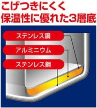 送料無料(北海道・沖縄・離島以外)パール金属クイックエコ3層底切り替え式圧力鍋5.5LH-5042【smtb-k】【kb】~