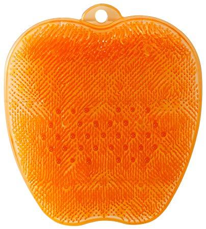 送料無料(北海道・東北・沖縄・離島以外) tone (トーン) フットブラシ TR-15 オレンジ フットケア用品 角質ケア 足裏 キレイ バスグッズ画像