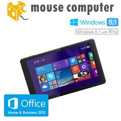 マウスコンピューター [ WN801V2-BK ] 8型タブレット【 Windows 8.1 with Bing/Atom Z3735F/2GB メモリ/ストレージ 32GB/Microsoft Office Home and Business 2013搭載 】