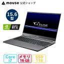 G-Tune E5-165-MA ゲーミングPC 15.6型 Core i7-10870H 16GB メモリ 1TB M.2 SSD GeForce RTX3060 ノートパソコン 新品 mouse マウスコンピューター PC BTO【GN】