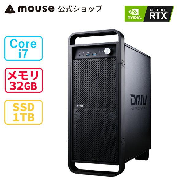 DAIVZ7-MAクリエイティブCorei732GBメモリ1TBM.2SSDGeForceRTX3060新品mouseマウスコン