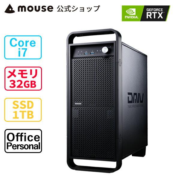 DAIVZ7-MA-APクリエイティブCorei732GBメモリ1TBM.2SSDGeForceRTX3060Office付き新