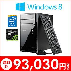 今ならメモリ4GB→8GB&HDD 500GB→1TBへ無償アップグレード!インテル Core i7-4770 プロセッ...