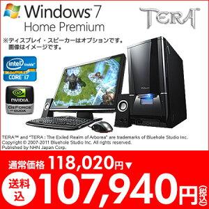 <今だけ10,080円OFF> ★TERA 推奨モデル★ マウスコンピューター [ NEXTGEAR i550GA1-TERA ] 【 Windows7 64bit/Core i7-2600/8GBメモリ/1TB HDD/GeForce GTX570 】