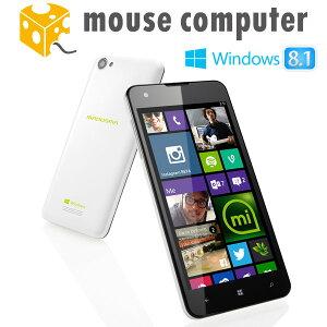マウスコンピューター スマートフォン MADOSMA Q501WH 【Windows Phone 8.1 Update / 約5.0インチHD IPS液晶 】 16GB Micro SDカード同梱
