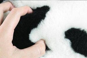 短毛ムートンクッション「ダルメシアン」50×50【ブラック/ホワイト】【ダルメシアン柄ムートンピロークッションムートンクッション】《ギフト対応OK》新生活