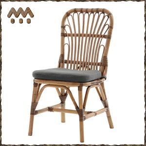 サンフラワーラタンラタンナチュラルダイニングチェアブラウンC308MEM【椅子チェアインテリアナチュラル】