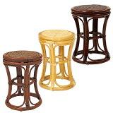 サンフラワーラタン ラタンスツール ダークブラウン ハニー ブラウン C412 業務用品質の籐製スツール 【椅子 パーソナルチェア 籐 ラタン】【代引き不可】