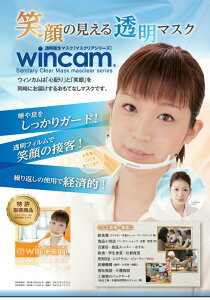 接客業に最適!透明衛生マスクマスクリアシリーズ「ウィンカム」ヘッドセットタイプ