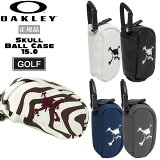 【ストアポイントアップデー】/ゴルフ ボールケース オークリー OAKLEY SKULL BALL CASE 15.0 2個収納可能 カラビナ付 GOLF あす楽
