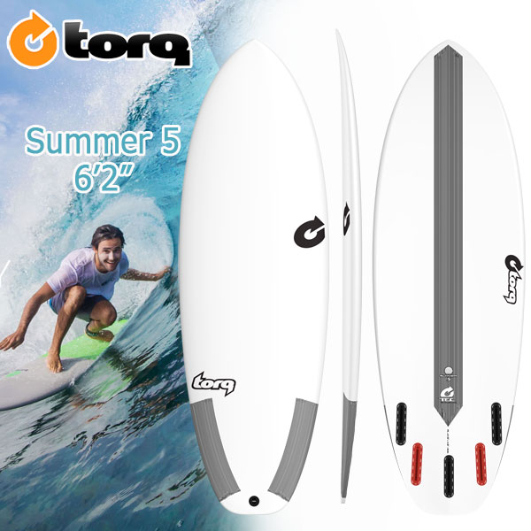 torq(トルク) TEC 6'2 SUMMER5 5 Finboxes(Futures Fin) ショートボード エポキシ EPS【p20】:MOVE