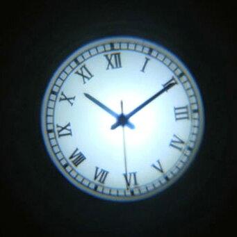 """【LED プロジェクタークロック""""Roman""""ローマン""""】インテリア 店内装飾 壁時計 おしゃれ雑貨 プロジェクション 壁 投影 時計 置き 壁掛け モノトーン ギフト 全4柄 2色の写真"""
