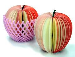 フルーツのかたちのブロックメモ! デスクは注目の的に♪【KUDAMEMO(Apple)】クダメモ(アッ...