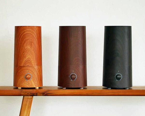 PRISMATE(プリズメイト)『きれいなミストで加湿するアロマ超音波式加湿器-wood-(PR-HF014W)』
