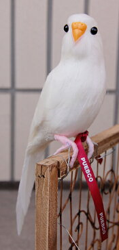 【PUEBCO/プエブコ・Budgie(White)】ARTIFICIAL BIRDS セキセイインコ リアル TOKYO COLLECTION ディスプレイ 雑貨 雑誌掲載 オブジェ ナチュラル インテリア 羽毛 ワイヤー 置物 ワイヤー 小鳥 ギフト プレゼント