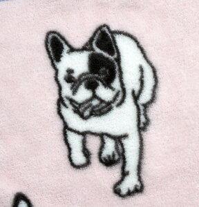 2014年秋冬モデル【Dogマイクロフリースブランケット(フレンチブルドッグ)】