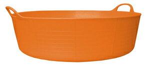 【TUBTRUGS(Shallow/Orange)】タブトラッグス(Lowサイズ/オレンジ)バケツ ヨーロッパ エコ リサイクル バッグ アウトドア ポップ キュート カラー バリエーション 多サイズ 多色 便利 ランドリー バス ゴミ箱 収納