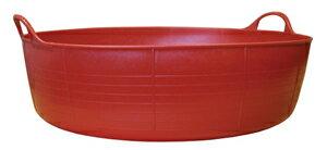 【TUBTRUGS(Shallow/Red)】タブトラッグス(Lowサイズ/レッド)バケツ ヨーロッパ エコ リサイクル バッグ アウトドア ポップ キュート カラー バリエーション 多サイズ 多色 便利 ランドリー バス ゴミ箱 収納
