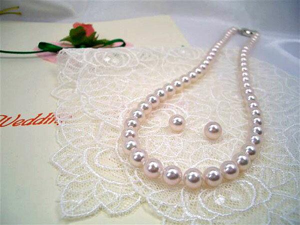 高級【花珠真珠】6.5〜7.0mmアコヤ真珠ネックレスセット 入学式卒業式のフォーマルにも最適!:三重県真珠加工販売協同組合