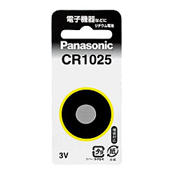 【パナソニック】コイン形リチウム電池CR1025☆家電 ※お取り寄せ商品【RCP】【02P09…