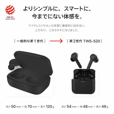 【 Red Dot Award 受賞デザイン 】【 第2世代 】完全ワイヤレスイヤホン JPRiDE TWS520 Bluetooth 5.0 高音質 AAC オーディオ対応 防水 防汗 ブルートゥース イヤホン bluetooth イヤホン iphone ワイヤレス イヤホン Bluetoothイヤホン ワイヤレスイヤホン iphone おすすめ・・・ 画像2