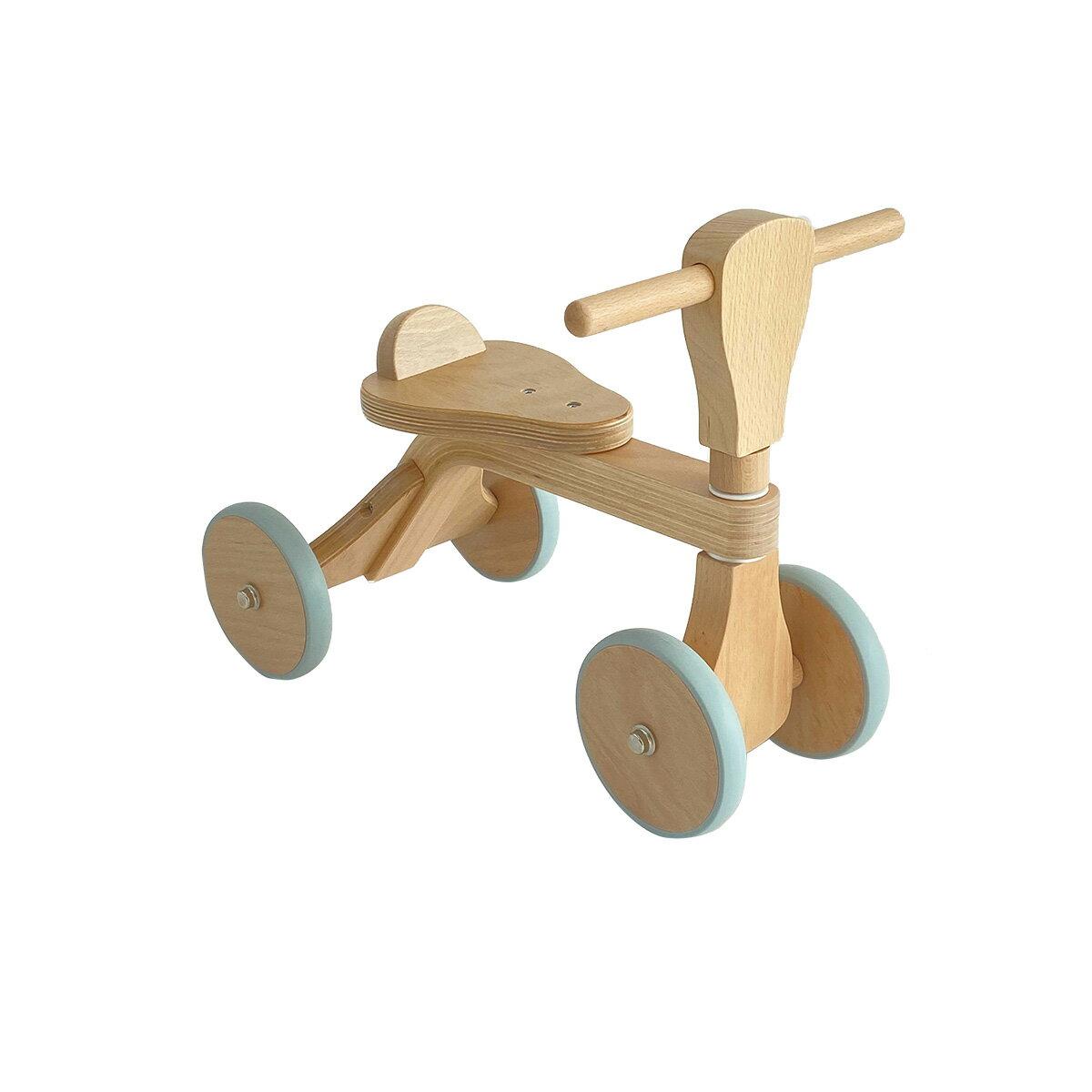 乗用玩具 木のおもちゃ ファーストウッディバイク(ナチュラル)「HOPPL(ホップル)」 「ボーネルンド 四輪プッシュバイク」と同サイズ 木 四輪車 木製 乗り物