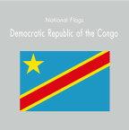 国旗ステッカー/コンゴ民主共和国 National Flag/Democratic Republic of the Congo