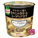 味の素 クノール スープDELI ポルチーニ香るきのこのクリームスープパスタ カップ 40.7g×48個入 スープデリ 【北海道・沖縄・離島配送不可】 1