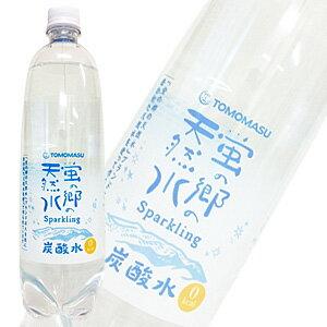 友桝飲料 蛍の郷の天然水スパークリング PET1000ml[1L]×15本入