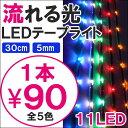 【ポイント10倍】【メール便】 流れる LED テープライト SMD11灯 30cm 5mm パーツ